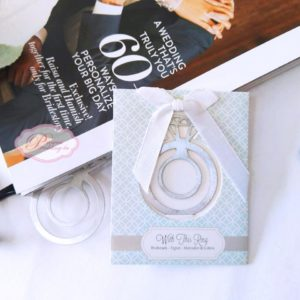with this ring bookmark