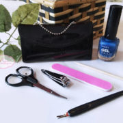 Little Black Purse Patent-Leather Five-Piece Manicure Set (Alat Manikur)