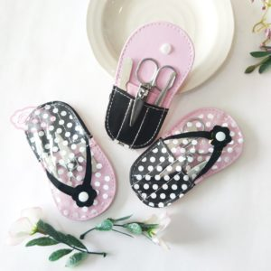cute white polka dot manicure set